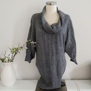 Gray batwing sweater